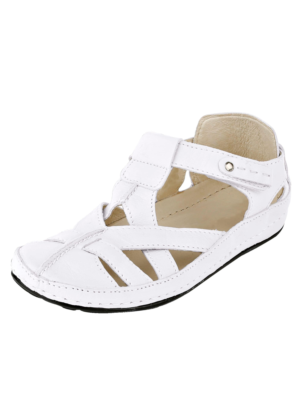 Naturläufer Klettslipper weiß Damen Slipper Loafer Business-Schuhe für Sie Slipper/ Halbschuhe
