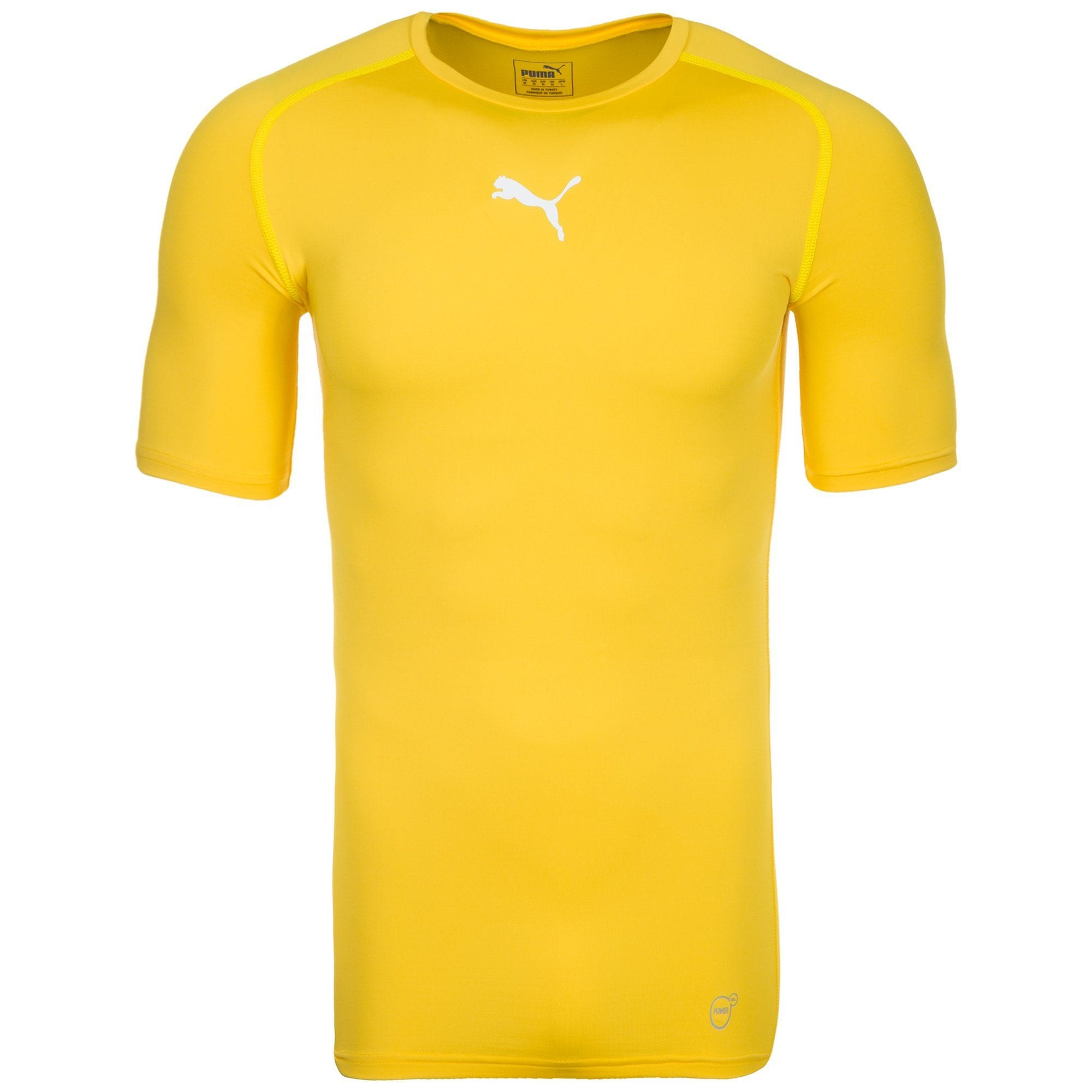 PUMA TB Trainingsshirt Herren | Sportbekleidung > Sportshirts > Funktionsshirts | Gelb | Polyester - Elasthan | PUMA