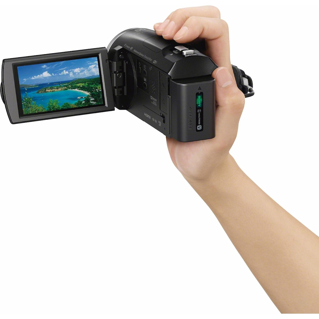 Sony Camcorder »HDR-CX625B«, Full HD, NFC-WLAN (Wi-Fi), 30x opt. Zoom, 26,8mm Weitwinkel