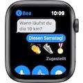 Apple Watch »Series 6 GPS, Aluminiumgehäuse mit Sportarmband 44mm«, (Watch OS inkl. Ladestation (magnetisches Ladekabel)