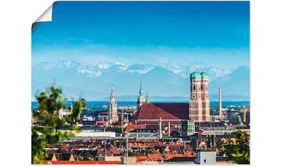 Artland Wandbild »München Alpenblick mit Frauenkirche« kaufen