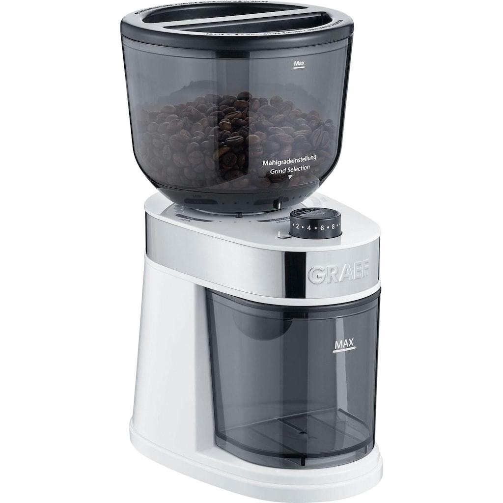 Graef Kaffeemühle »CM 201, weiß«, 130 W, Scheibenmahlwerk, 225 g Bohnenbehälter