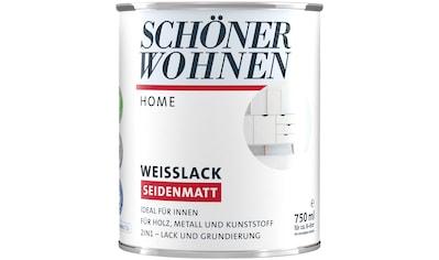 SCHÖNER WOHNEN FARBE Lack »Home Weisslack«, seidenmatt, 750 ml, weiß kaufen