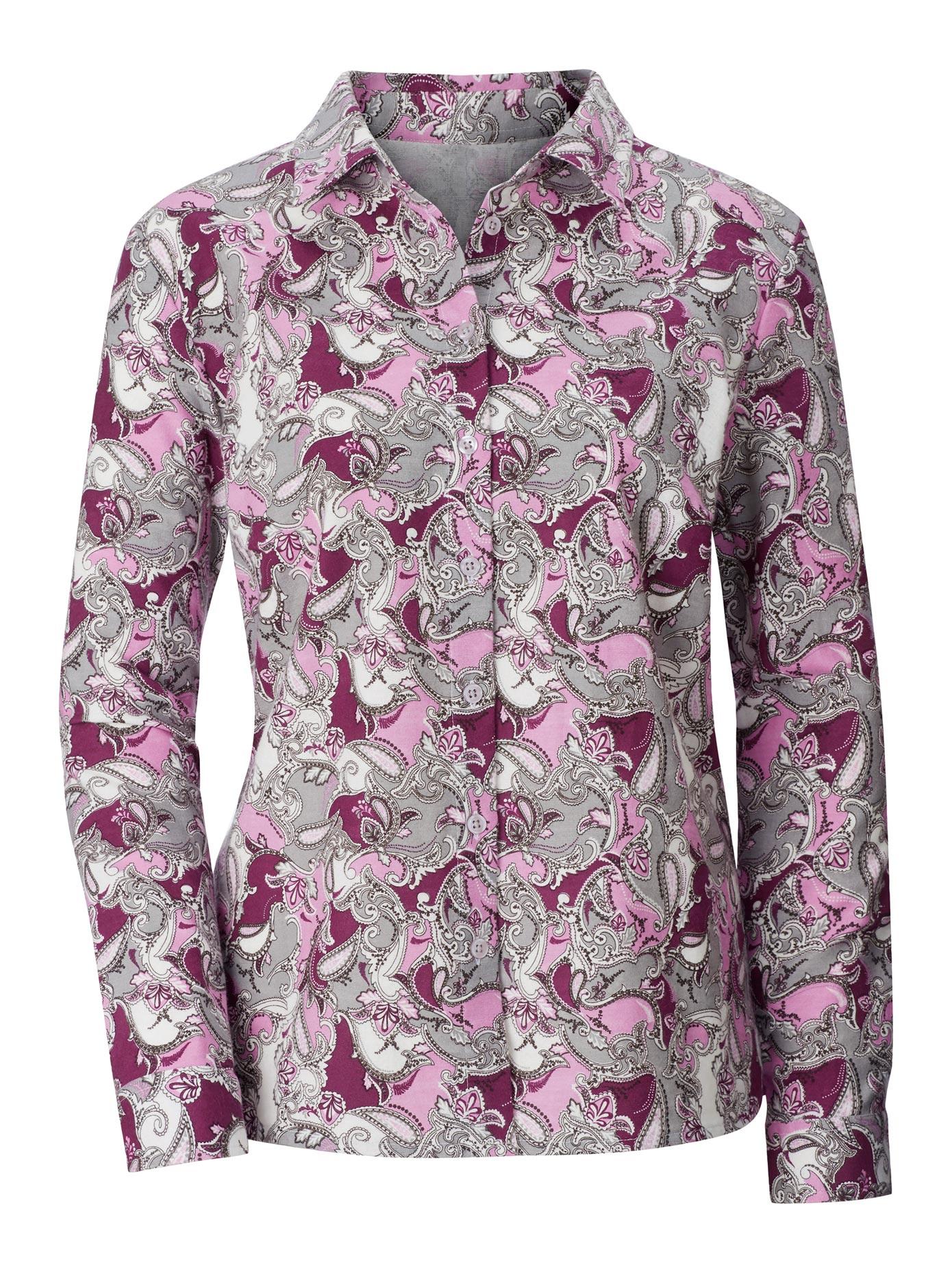 Classic Basics Bluse im ausdrucksstarkem Dessin