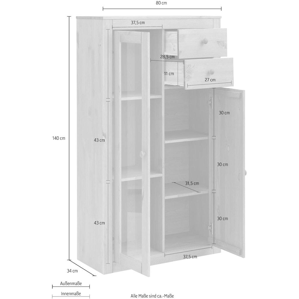 Home affaire Highboard »Agave«, aus massiver Kiefer