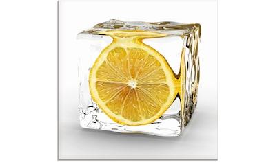 Artland Glasbild »Zitrone im Eiswürfel«, Lebensmittel, (1 St.) kaufen