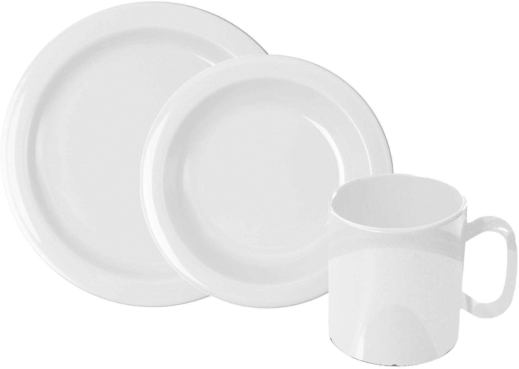WACA Frühstücks-Geschirrset, (Set, 6 tlg.) weiß Frühstücksset Eierbecher Geschirr, Porzellan Tischaccessoires Haushaltswaren Frühstücks-Geschirrset