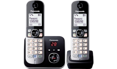 Panasonic Schnurloses DECT-Telefon »KX-TG6822G«, (Mobilteile: 2 ), mit Anrufbeantworter, Nachtmodis, Freisprechen kaufen