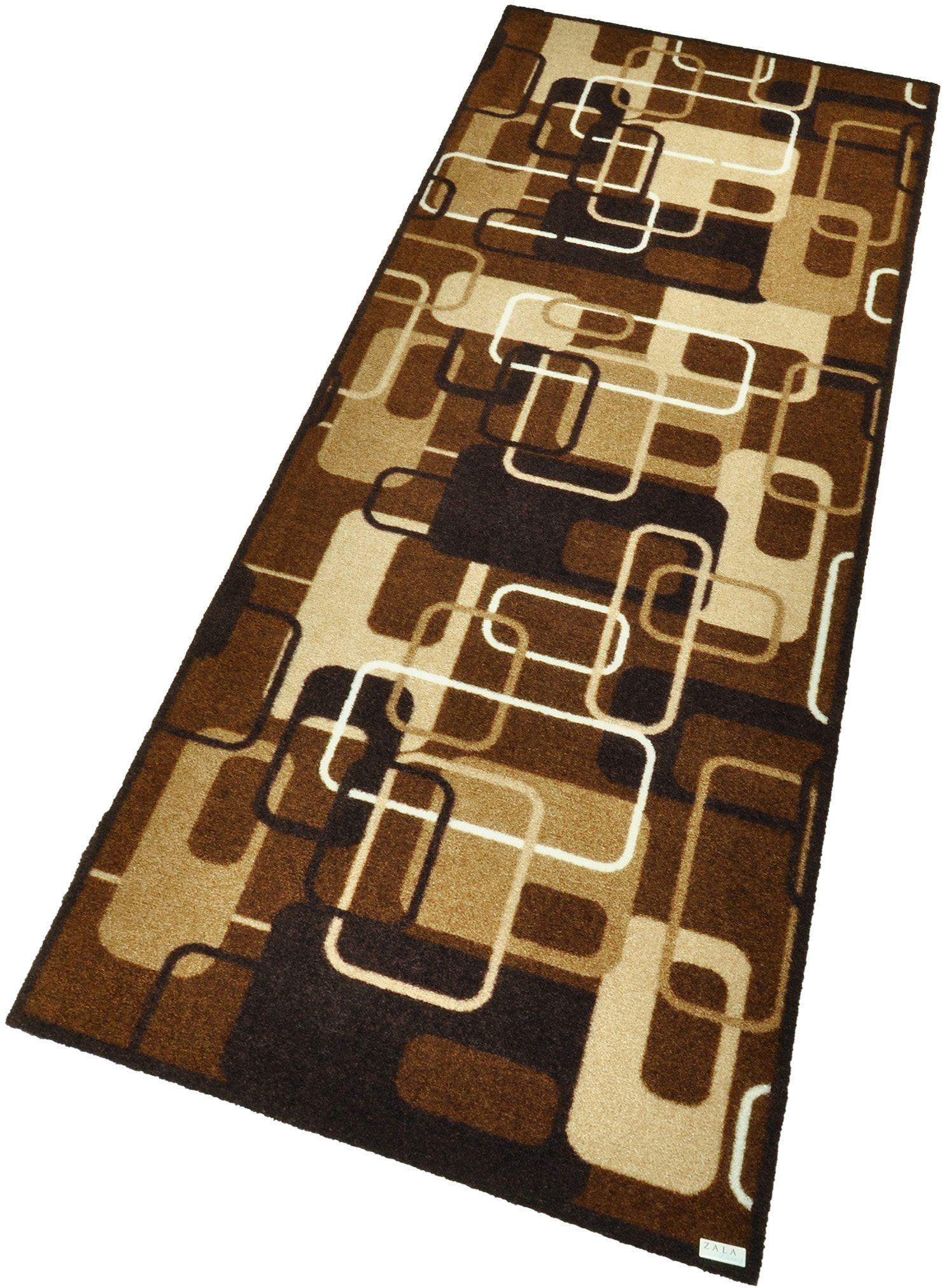 Läufer Retro HANSE Home rechteckig Höhe 9 mm maschinell gewebt | Heimtextilien > Teppiche > Läufer | Braun | Hanse Home