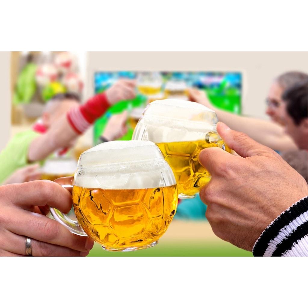 Stölzle Bierkrug »Fußball«, (Set, 6 tlg.), 6-teilig
