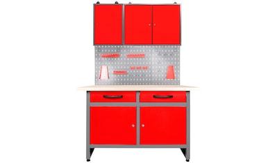 ONDIS24 Werkstatt-Set, 120 cm, mit Lochwandsystem inkl. Haken, mit LED kaufen