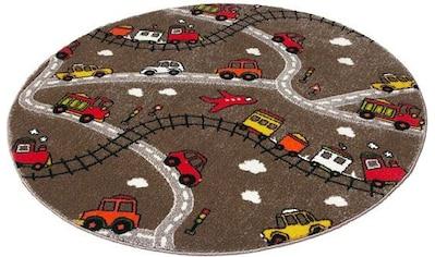 Kinderteppich, »Momo Straße«, Festival, rund, Höhe 13 mm, maschinell gewebt kaufen