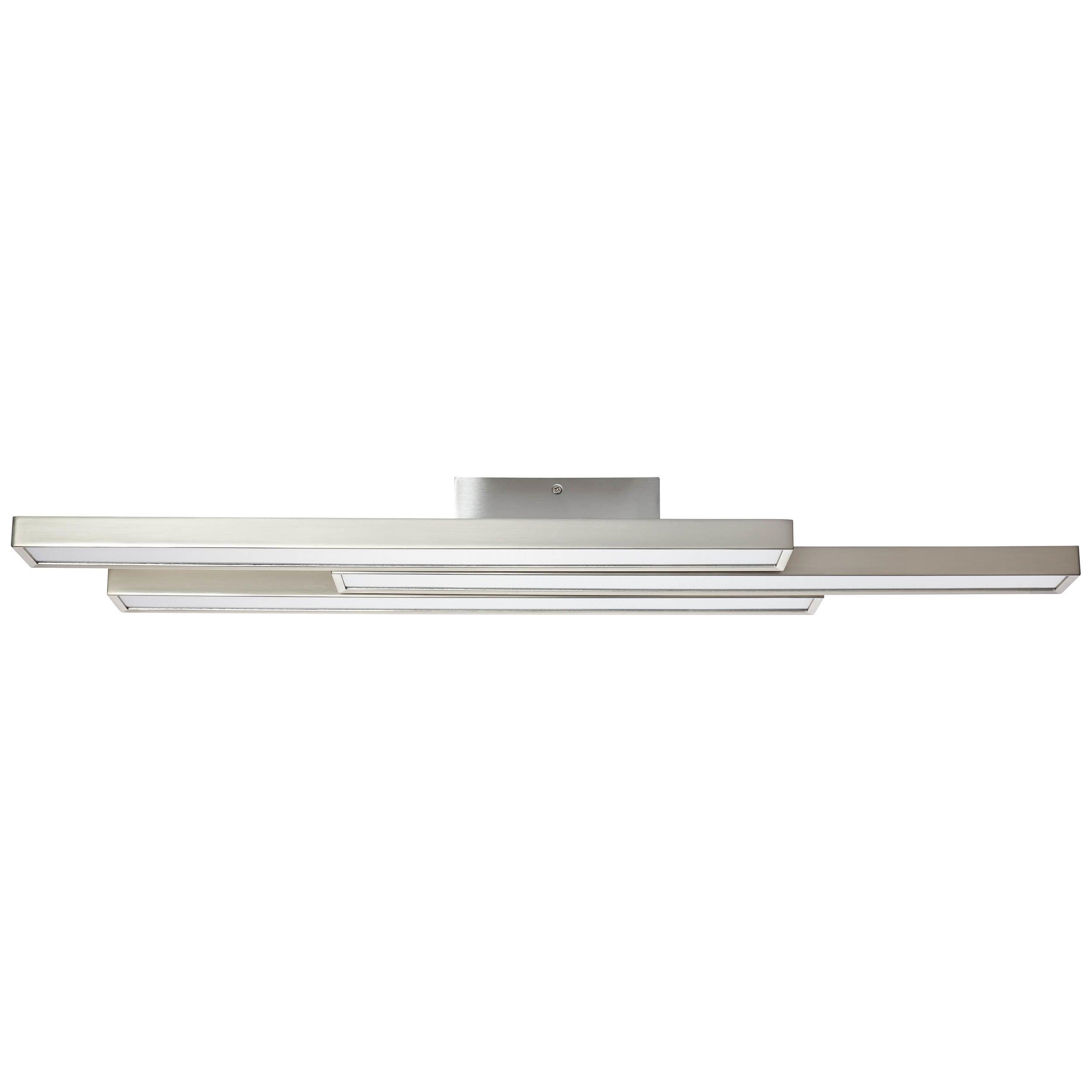 Brilliant Leuchten Sword WiZ LED Deckenleuchte 3flg nickel eloxiert/weiß
