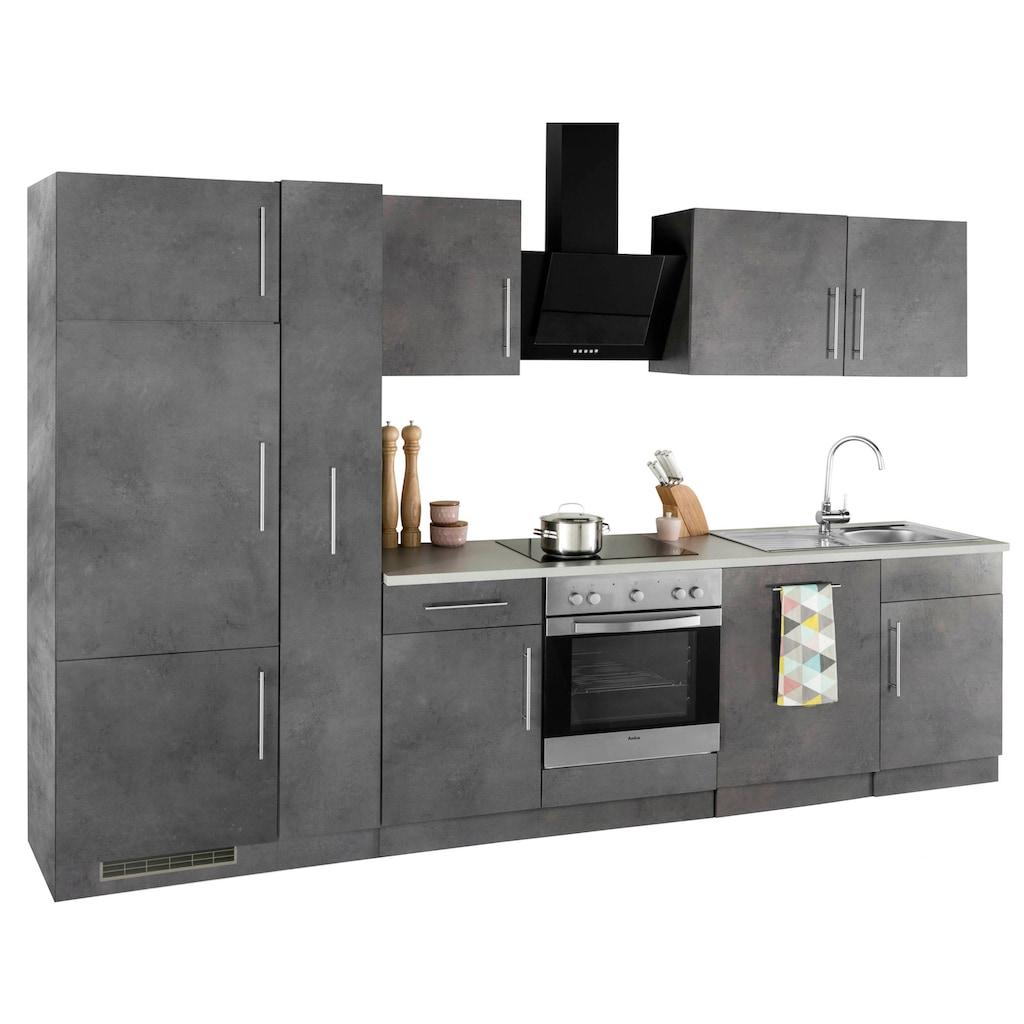 wiho Küchen Küchenzeile »Cali«, ohne E-Geräte, Breite 310 cm