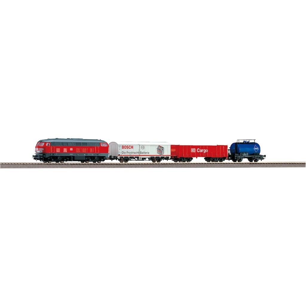 PIKO Modelleisenbahn Startpaket »BR 218 DB Cargo mit 3 Güterwagen, (57154)«