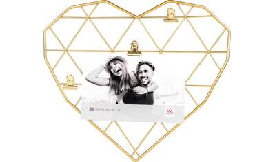 Walther Wanddekoobjekt »Wired Heart«, Fotohalter, Wandgitter, aus Metall, Herz-Form kaufen