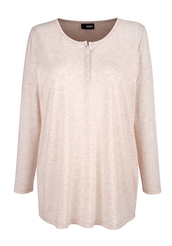 MIAMODA Langarmshirt, mit dezenter Knopfleiste am Ausschnitt kaufen