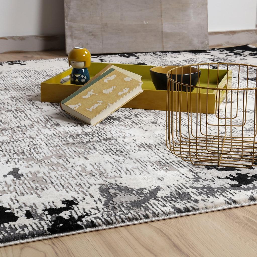 Obsession Teppich »My Opal 912«, rechteckig, 10 mm Höhe, 3D-Effekt, modern, Wohnzimmer