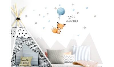 little DECO Wandtattoo »Little Deco Wandtattoo Sei wild & Fuchs mit Luftballon« kaufen