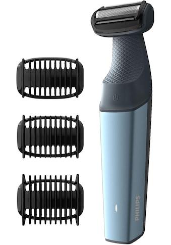 Philips Elektrokörperrasierer »Series 3000 BG3015/15«, 3 St. Aufsätze, Langhaartrimmer, Bodygroom kaufen