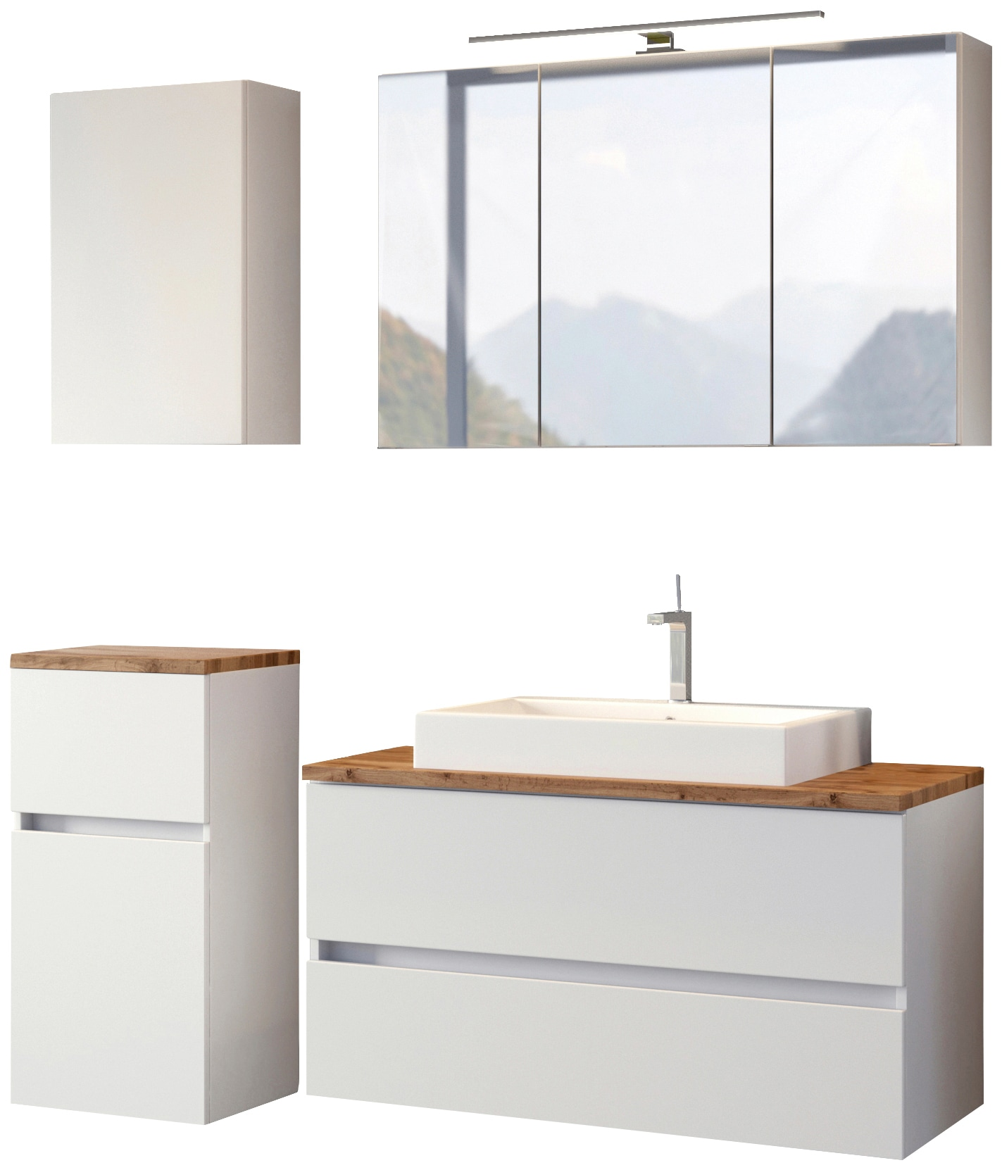 HELD MÖBEL Waschtisch-Set, (4 tlg.), mit Softclose-Funktion weiß Waschtische Badmöbel Waschtisch-Set