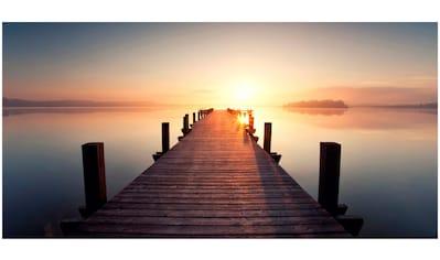 Art & Pleasure Acrylglasbild »Sunset jetty«, Sonnenuntergang kaufen