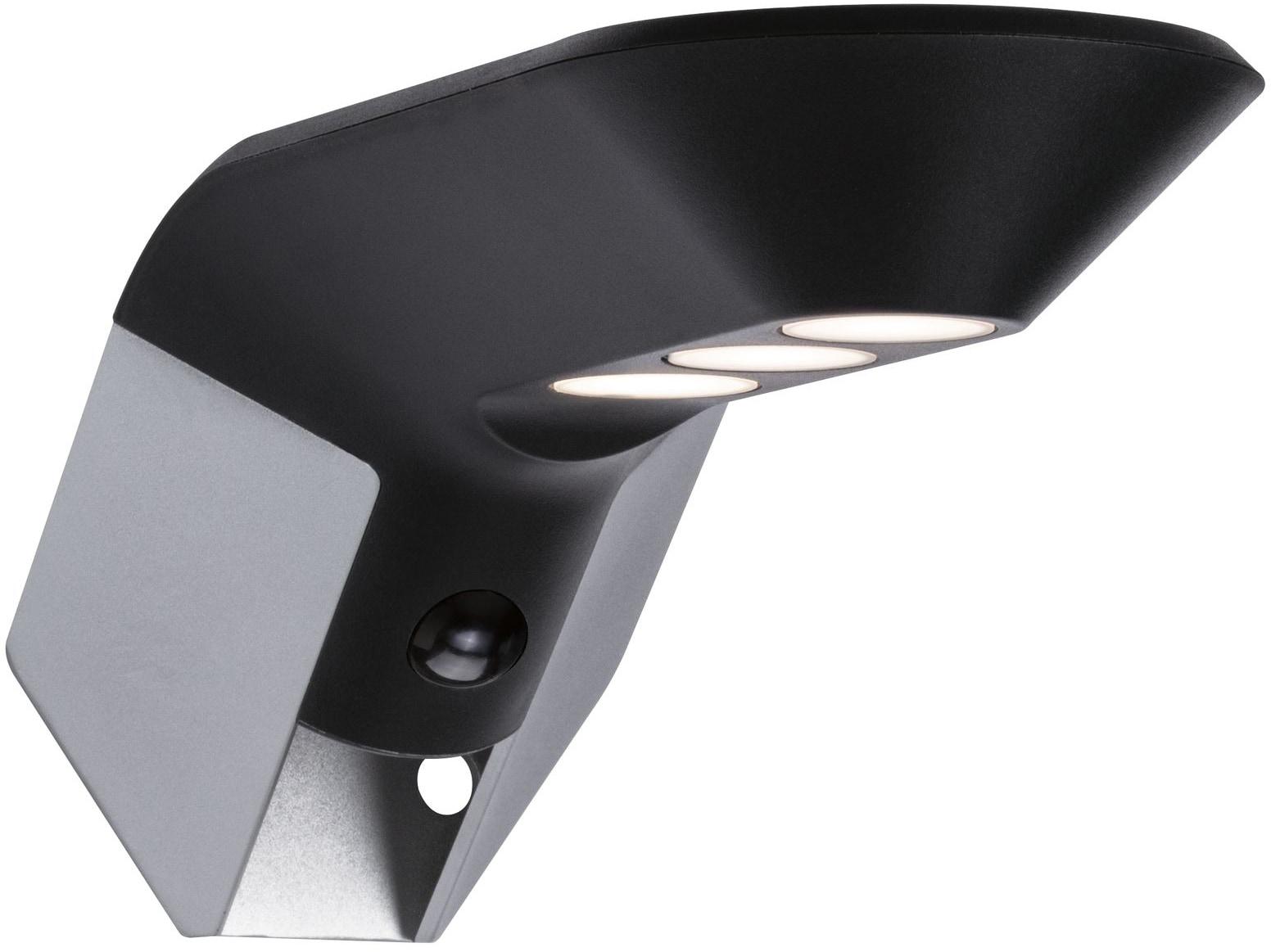 Paulmann LED Außen-Wandleuchte Soley, LED-Board, 1 St., Warmweiß, Solar ZigBee