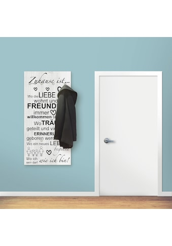 Artland Garderobe »Wo die Liebe wohnt«, Garderobe mit 4 großen und 2 kleinen Haken kaufen