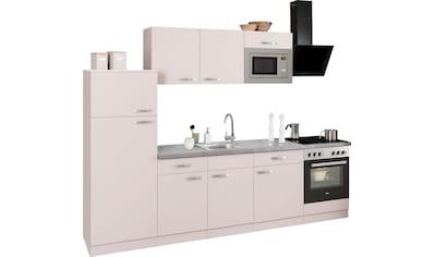 wiho Küchen Küchenzeile »Kansas«, mit E-Geräten, Breite 280 cm kaufen
