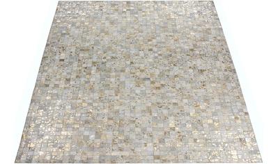 Home affaire Lederteppich »Shawn«, rechteckig, 8 mm Höhe, Wohnzimmer kaufen