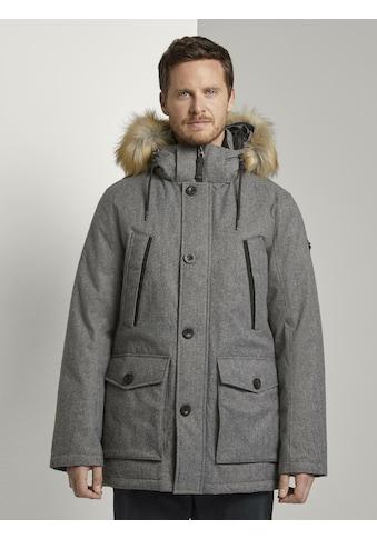 TOM TAILOR Winterjacke »Lange Winterjacke mit Fellkragen« kaufen