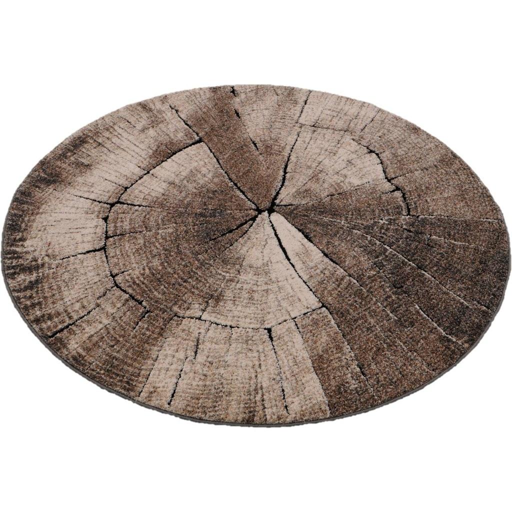 merinos Teppich »Ibiza 605«, rund, 13 mm Höhe, Wohnzimmer