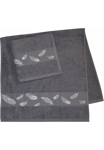 Dyckhoff Handtücher »Feder«, (2 St.), mit feiner Feder Bordüre kaufen
