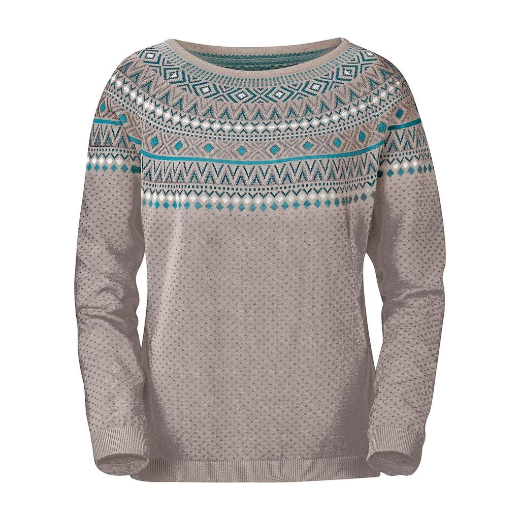Pullover im Norweger-Jacquardmuster