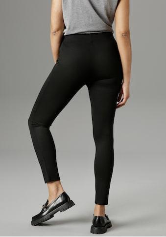 Aniston SELECTED Leggings, mit Zierknöpfen - NEUE KOLLEKTION kaufen