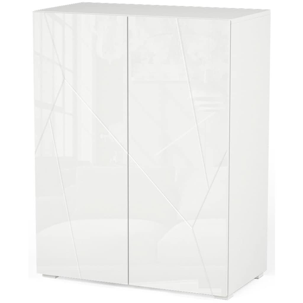 INOSIGN Wohnzimmer-Set »Annegret«, (3 tlg., bestehend aus 1 Highboard, 1 TV-Lowboard und 1 Vitrine)