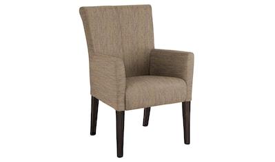 Home affaire Armlehnstuhl »King«, Beine aus massiver Buche, wengefarben lackiert kaufen