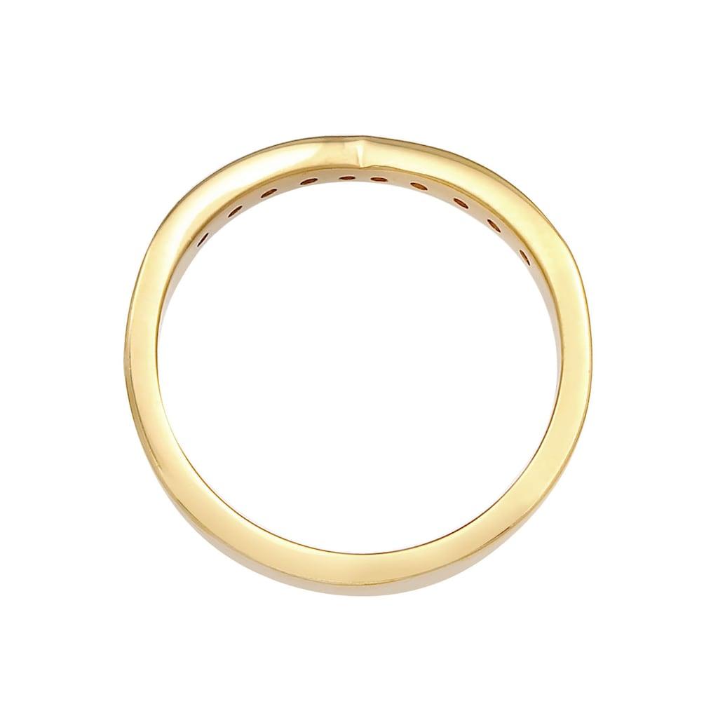 Elli DIAMONDS Fingerring »Elli DIAMONDS Ring Diamanten V-Form Verlobung, 0611512320, 0611522320«, mit Brillanten