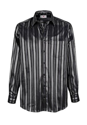 Roger Kent Partyhemd mit Glanzstreifen kaufen