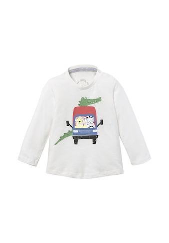 TOM TAILOR Langarmshirt »Langarmshirt mit beidseitigem Print« kaufen
