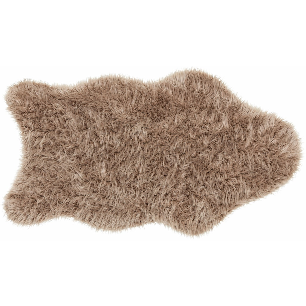 ASTRA Fellteppich »Mia«, fellförmig, 50 mm Höhe, Kunstfell, waschbar, Wohnzimmer