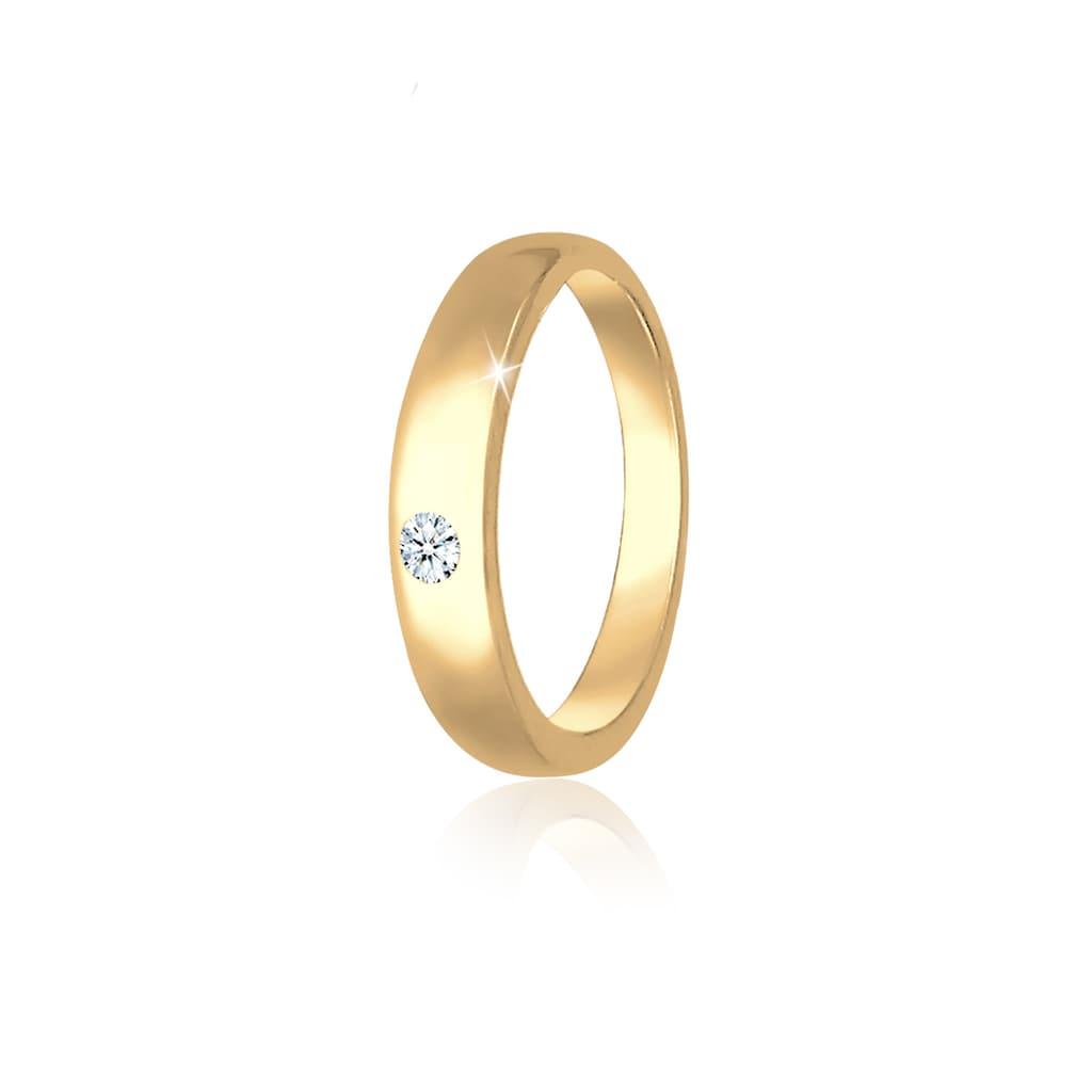 Elli Kettenanhänger »Kinder Taufring Diamant (0.005 ct.) 585 Gelbgold«