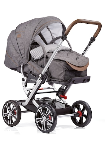 Gesslein Kombi-Kinderwagen »F10 Air+, eloxiert/tabak mit Tragetasche C1 Lift, grau... kaufen