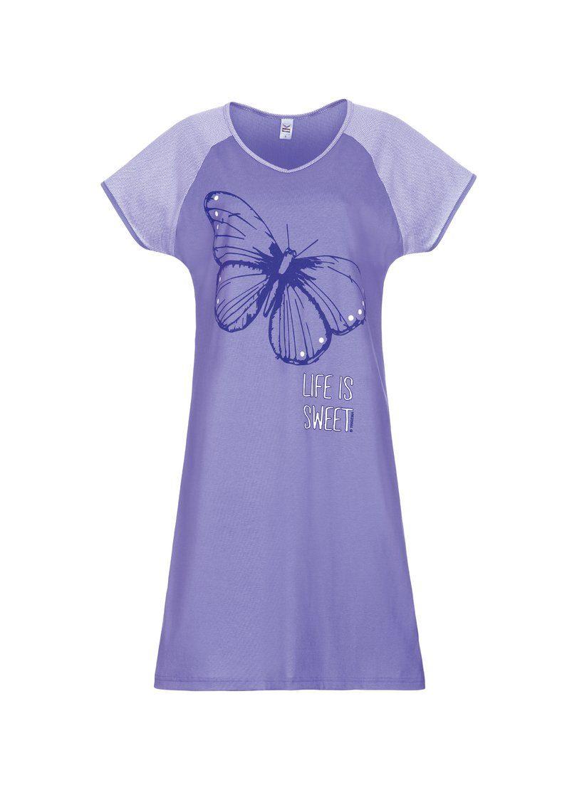 TRIGEMA Nachthemd mit Schmetterling