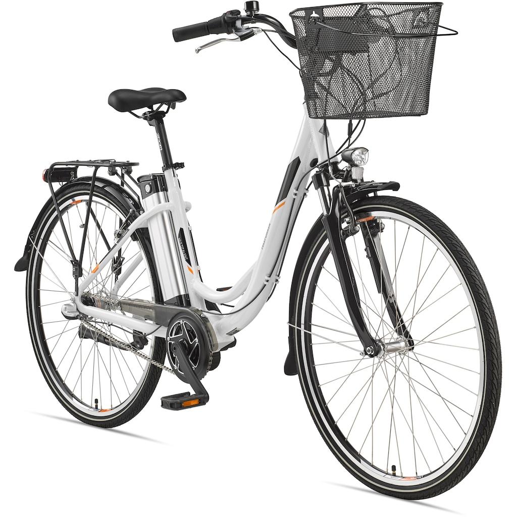 Telefunken E-Bike »Multitalent RC865«, 3 Gang, Shimano, Nexus, Mittelmotor 250 W, mit Fahrradkorb