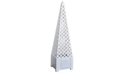 KHW Spalier »Obelisk«, mit Pflanzkasten, BxH: 43x172 cm, weiß kaufen