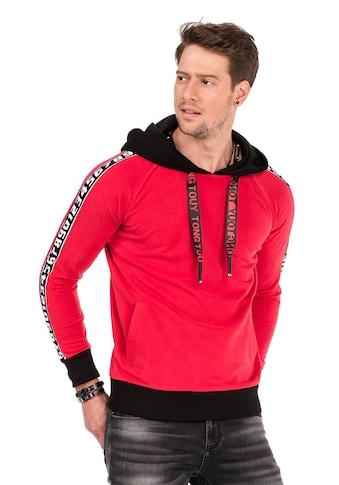 Cipo & Baxx Kapuzensweatshirt, mit stylischen Marken-Streifen kaufen