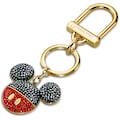 Swarovski Schlüsselanhänger »Mickey Handtaschen-Charm, schwarz, vergoldet, 5560954«, mit Swarovski® Kristallen und Emaille