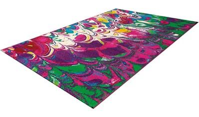calo-deluxe Teppich »Pinda 4421«, rechteckig, 18 mm Höhe, Kurzflor, Wohnzimmer kaufen