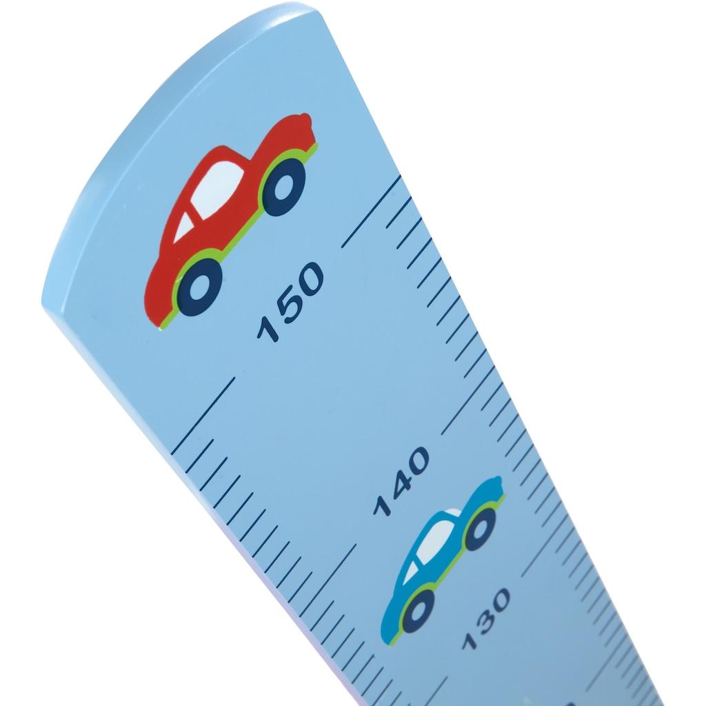 roba® Messlatte »Rennfahrer«, mit Auto Motiv, Skala bis 150 cm